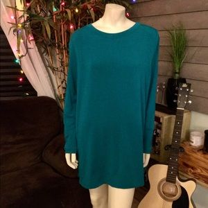Susan Graver Weekend Cold Shoulder Crew Neck Top
